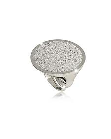 R-Zero Rhodium Over Bronze Ring - Rebecca