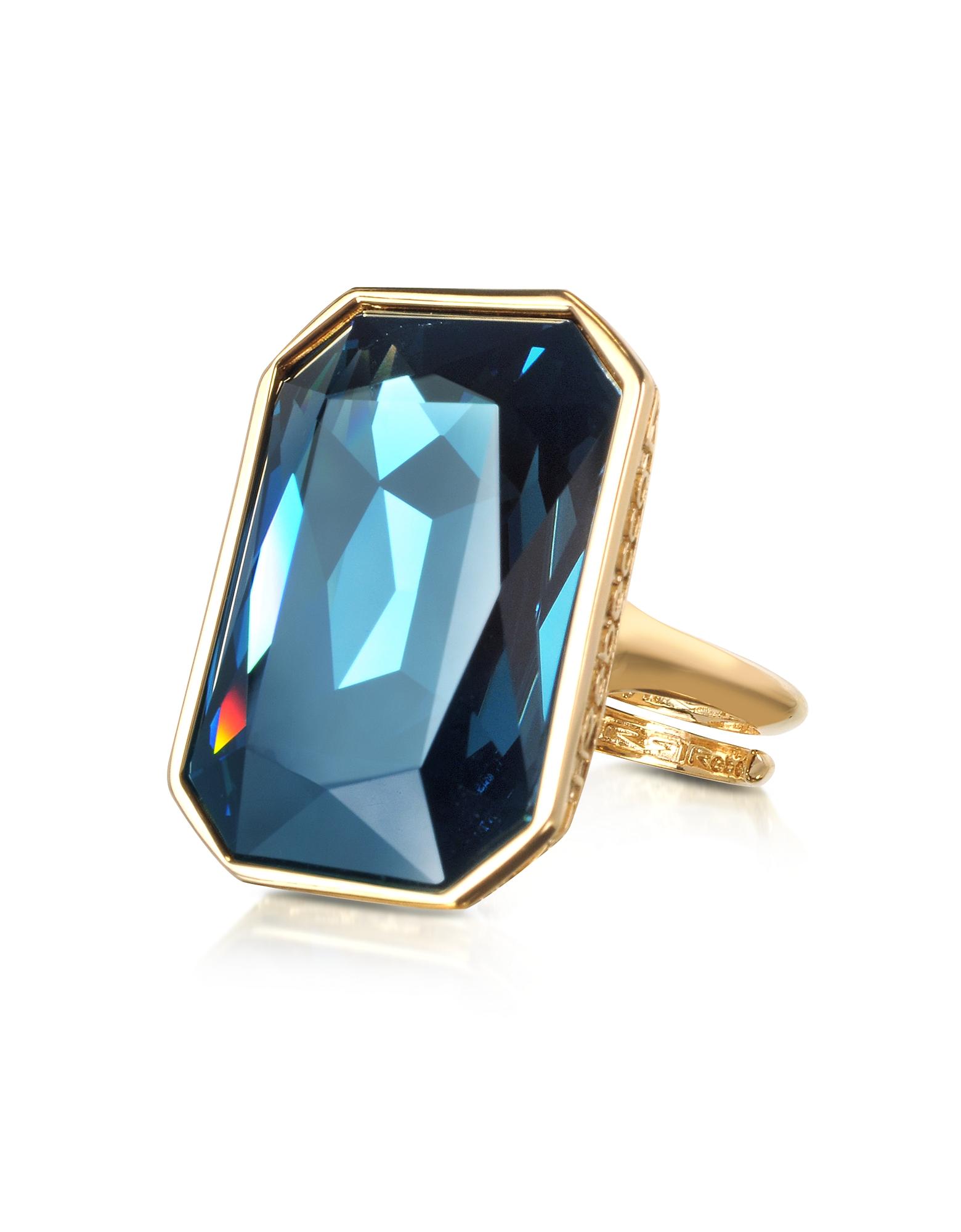 Elizabeth - Кольцо из Бронзы с Напылением Желтого Золота