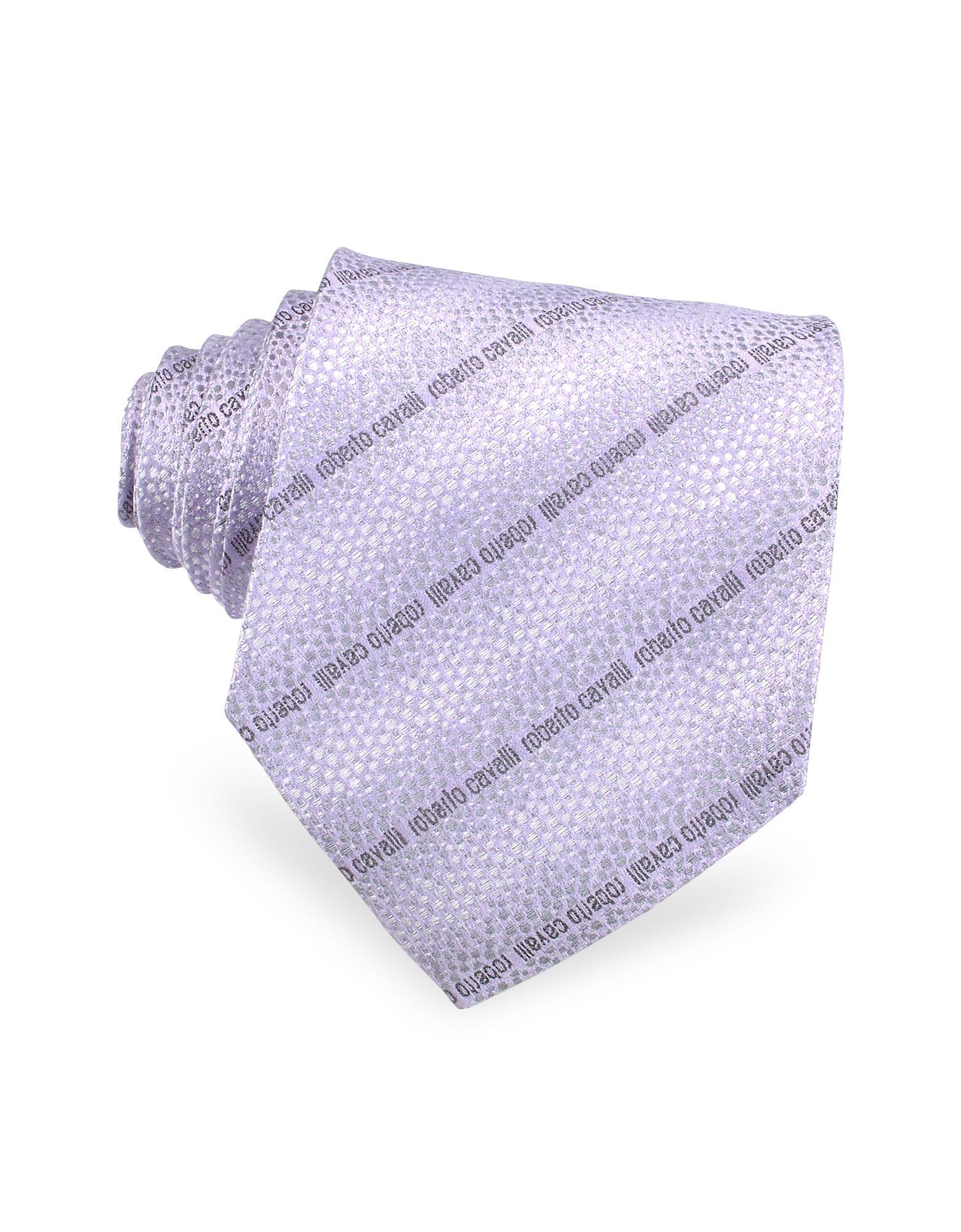 Roberto Cavalli  Signature Lines Woven Silk Tie