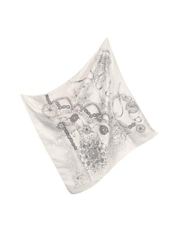 Roberto Cavalli Light Pink Jellyfish and Shells Printed Silk Square Scarf