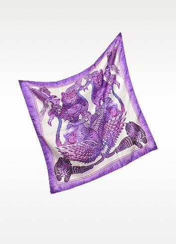 Printed Silk Square Scarf - Roberto Cavalli