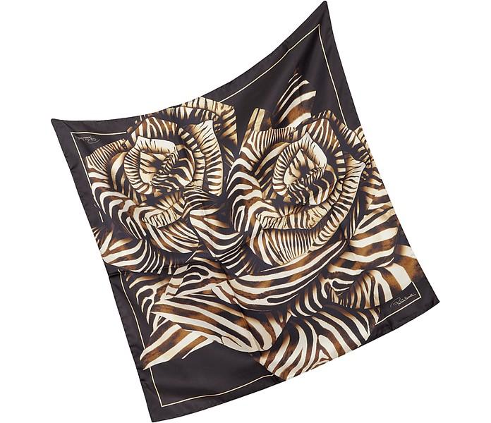Animal Print Silk Square Scarf - Roberto Cavalli