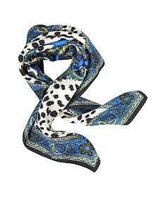 蛇图标动物纹方巾 - Roberto Cavalli 罗伯托卡瓦利