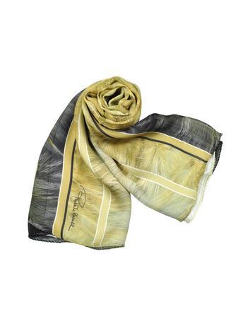 Roberto Cavalli Feather Print Silk Stole