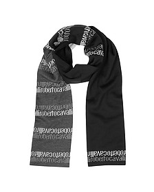 Signature Double Face Wool Blend Men's Scarf - Roberto Cavalli