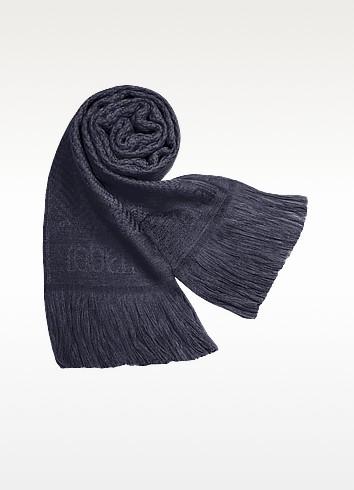 Signature Wool Fringed Long Scarf - Roberto Cavalli