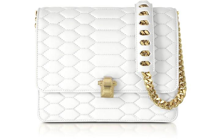 Hera Medium Graphic Python Leather Shoulder Bag - Roberto Cavalli