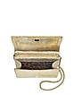Mirror Gold Leather RC Clutch - Roberto Cavalli