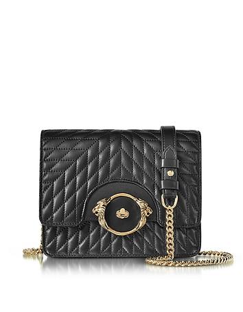 Star Black Quilted Nappa Leather Shoulder Bag