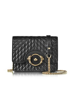 Star Black Quilted Nappa Leather Shoulder Bag - Roberto Cavalli