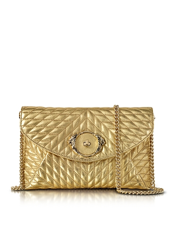 1930s Handbags and Purses Fashion Star Metallic Quilted Nappa Leather Envelope Bag $780.00 AT vintagedancer.com