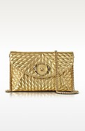 Star Metallic Quilted Nappa Leather Envelope Bag - Roberto Cavalli