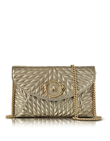 Retro Handbags, Purses, Wallets, Bags Star Metallic Quilted Nappa Leather Envelope Bag $780.00 AT vintagedancer.com