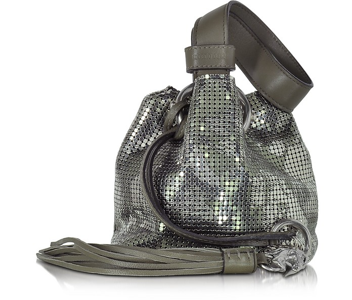 Mini Leo Print Metal Mesh Handbag - Roberto Cavalli