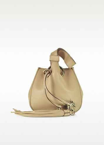 Nude Leather Mini Bucket Bag - Roberto Cavalli