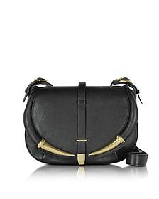 Black Kripton Leather Shoulder Bag - Roberto Cavalli
