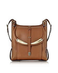 Horn Walnut Leather Shoulder Bag - Roberto Cavalli