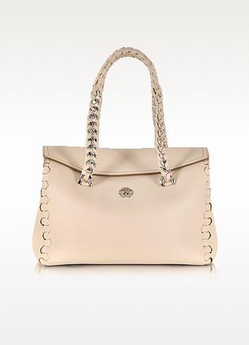 Regina Small Leather Satchel - Roberto Cavalli
