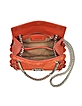 Regina Burnt Orange Leather and Suede Crossbody Bag - Roberto Cavalli