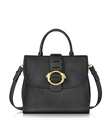 Black Leather Tote Bag - Roberto Cavalli