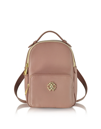 Roberto Cavalli - Small Leather Backpack w/Front Pocket