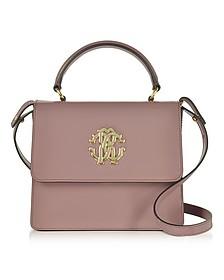 Cappuccino Patent Leather Small Satchel Bag - Roberto Cavalli