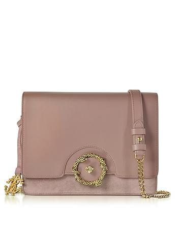 Roberto Cavalli - Genuine Leather and Suede Shoulder Bag