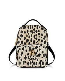 Animal Printed leather Small Backpack - Roberto Cavalli