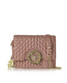Small Cappuccino Nappa Star Quilted Leather Shoulder Bag - Roberto Cavalli