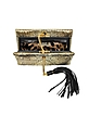 Lion Gold and Black Quilted Metallic Python Small Clutch - Roberto Cavalli