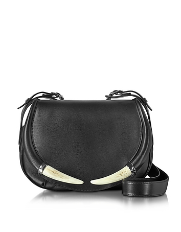 Horn Smooth Leather Shoulder Bag