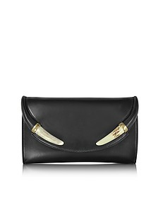 Black Nappa Leather and Horn Clutch  - Roberto Cavalli