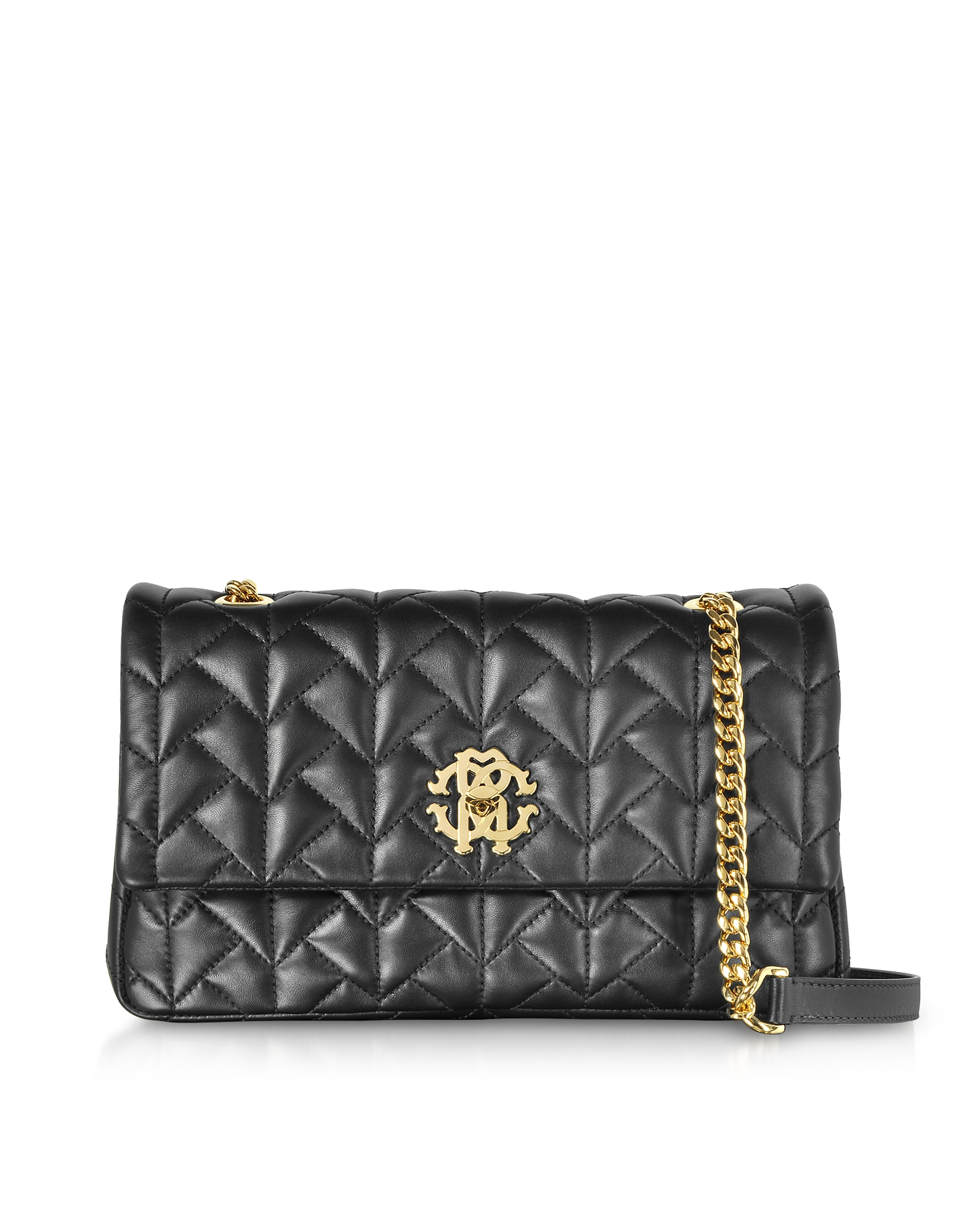 Roberto Cavalli Handbags, Black Quilted Leather Shoulder Bag
