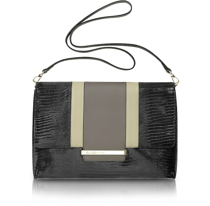 Class - Reptile-Embossed Leather Shoulder Bag - Roberto Cavalli