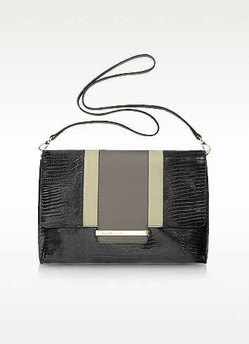 Class - Reptile-Embossed Leather Shoulder Bag - Roberto Cavalli