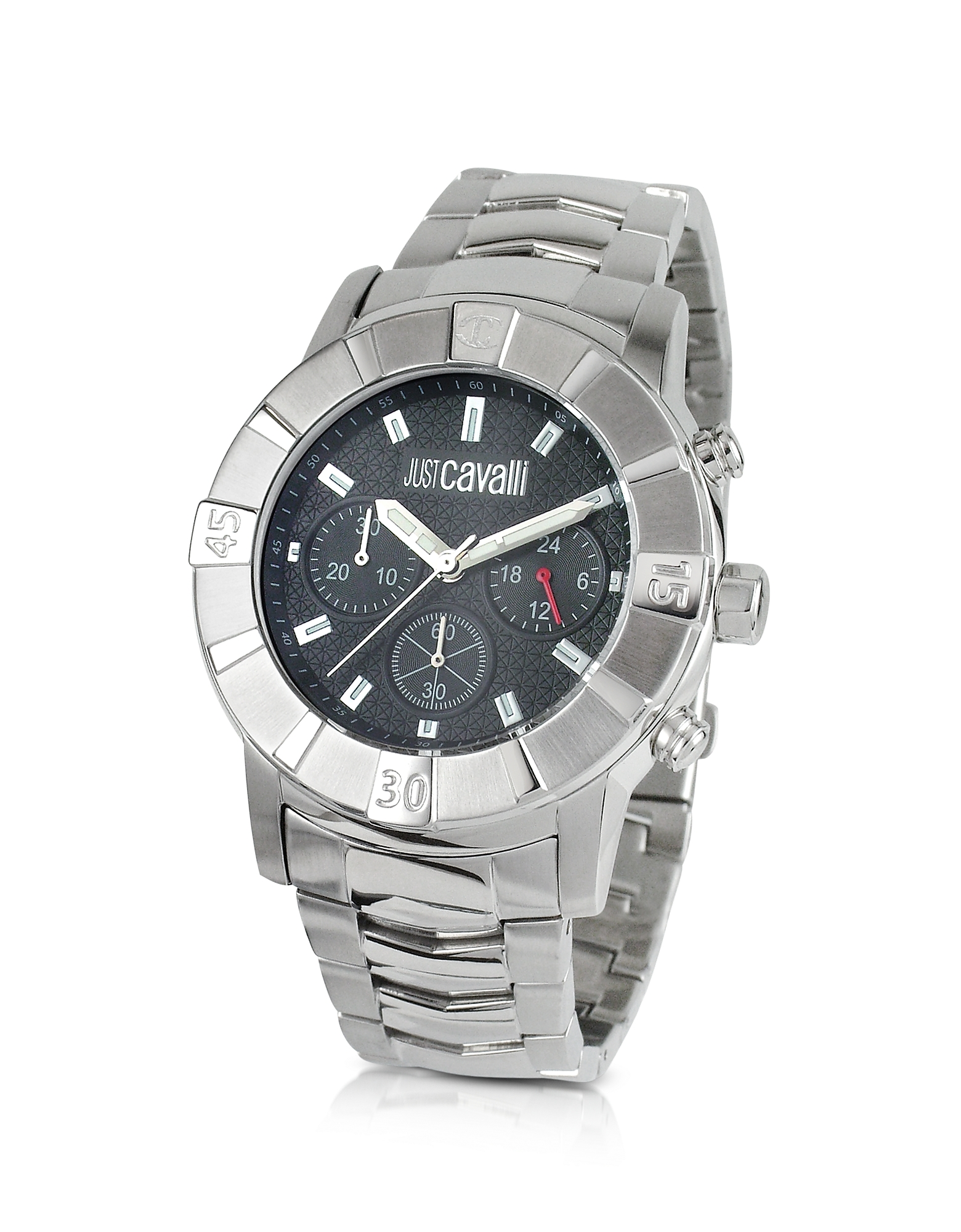 Just Cavalli Men's Watches, Crystal Gent - Stainless Steel Bracelet Chronograph Watch