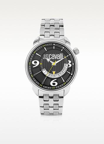 Just Cavalli Earth - Часы с Датой и Черным Циферблатом