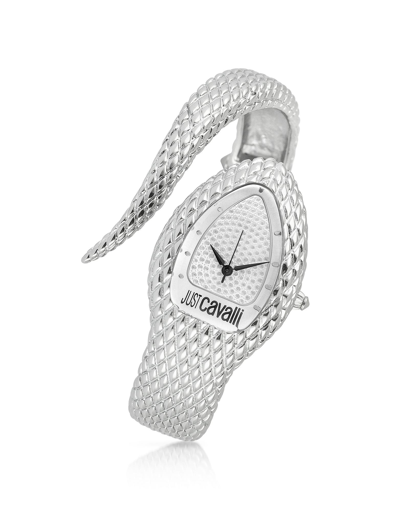 Poison - Часы с Серебристым Браслетом-Змеей