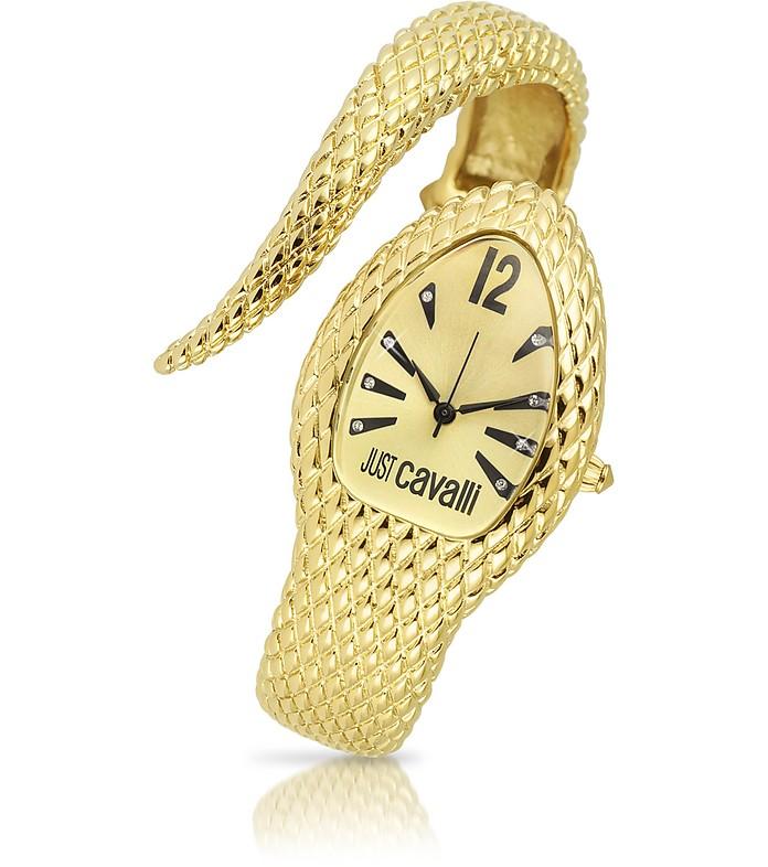 Poison - Golden Serpent Bracelet Watch - Just Cavalli