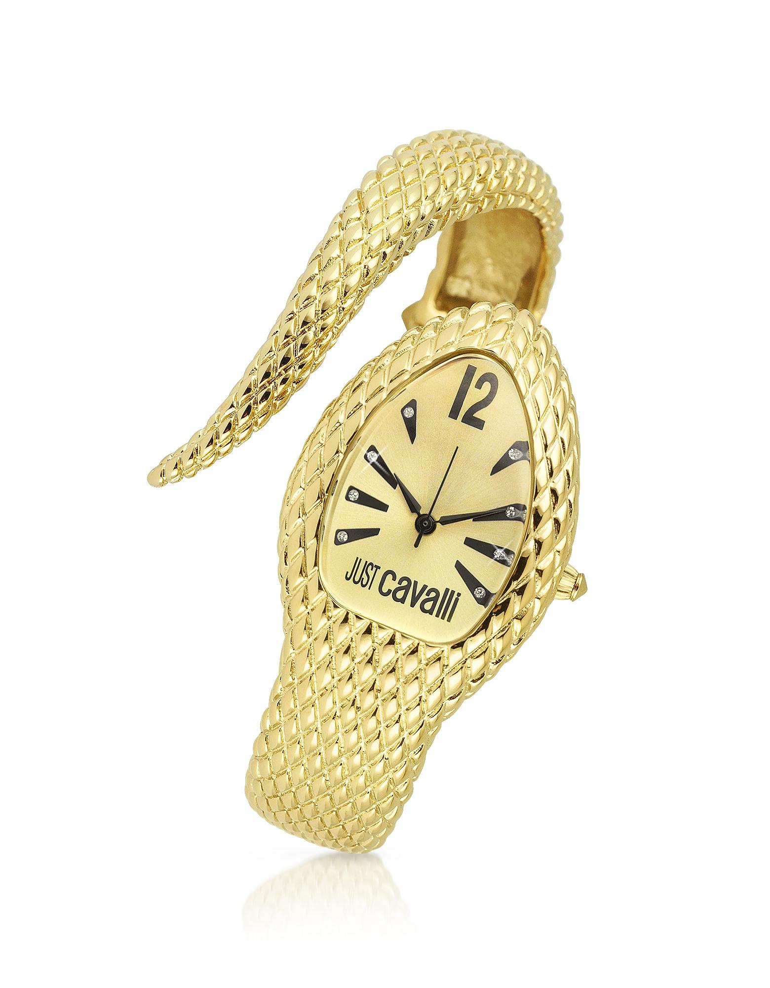 Poison - Часы с Золотистым Браслетом- Змеей