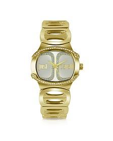Born JC - Golden Dial Bracelet Watch - Just Cavalli