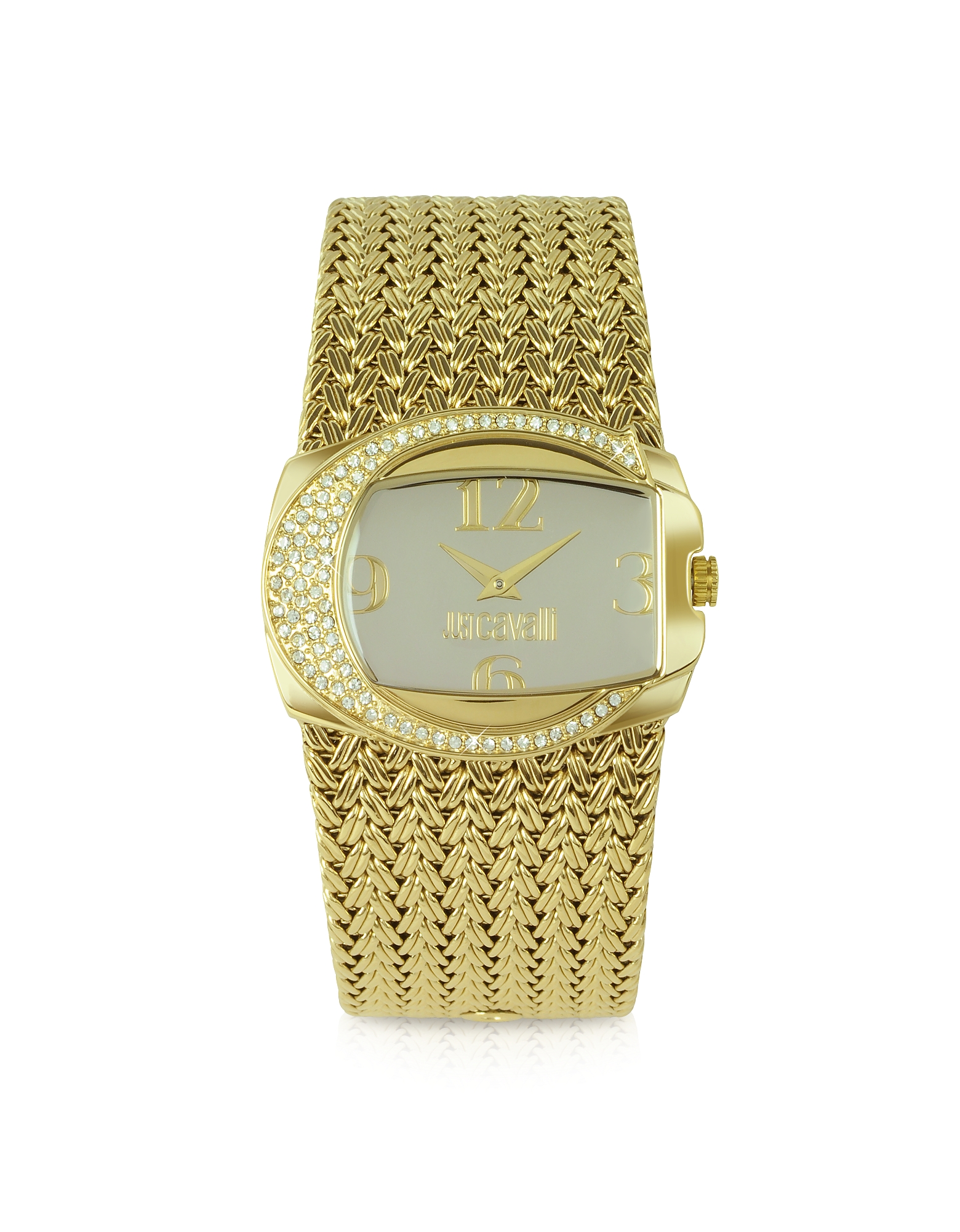 Just Cavalli Women's Watches, Rich - Golden Weave Bracelet Watch