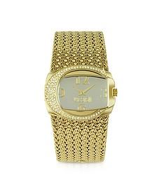 Rich - Golden Weave Bracelet Watch - Just Cavalli