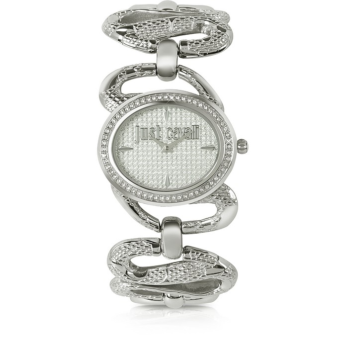 Sinuous - Silver Dial Bracelet Watch - Just Cavalli