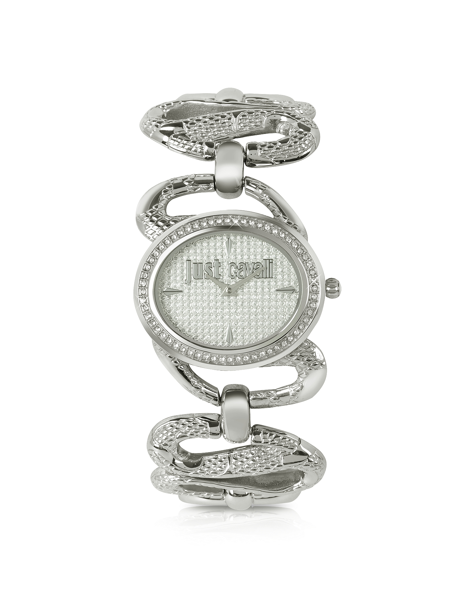 Just Cavalli Women's Watches, Sinuous - Silver Dial Bracelet Watch