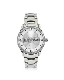 Huge Collection Silver Dial Stainless Steel Watch - Just Cavalli