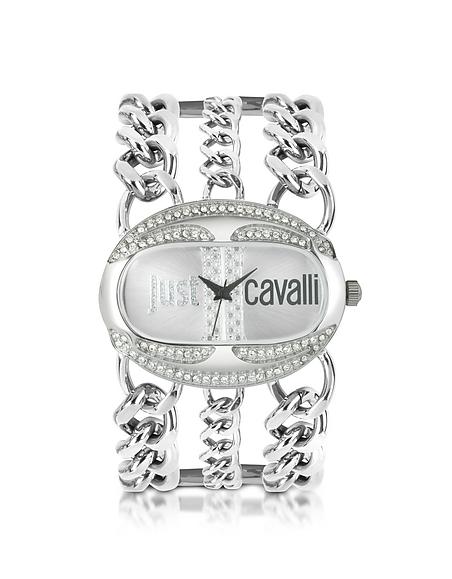Foto Just Cavalli Trinity - Orologio in Metallo con Logo Orologi Donna