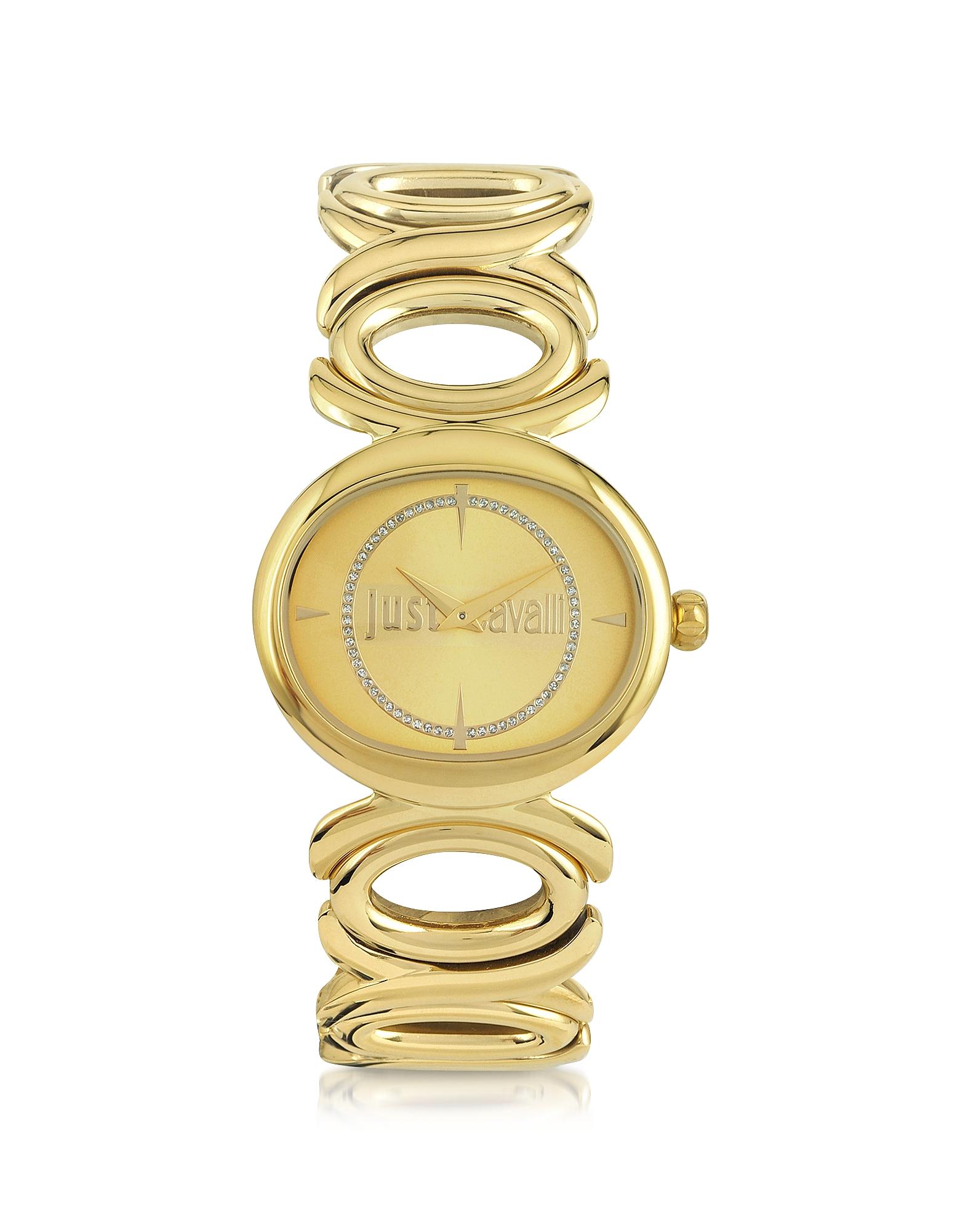 Double Jc 2H - Женские Часы из Золотистой Нержавеющей Стали с Циферблатом Шампань
