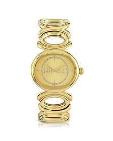 Double Jc 2H Champagne Dial Gold Stainless Steel Women's Watch - Just Cavalli