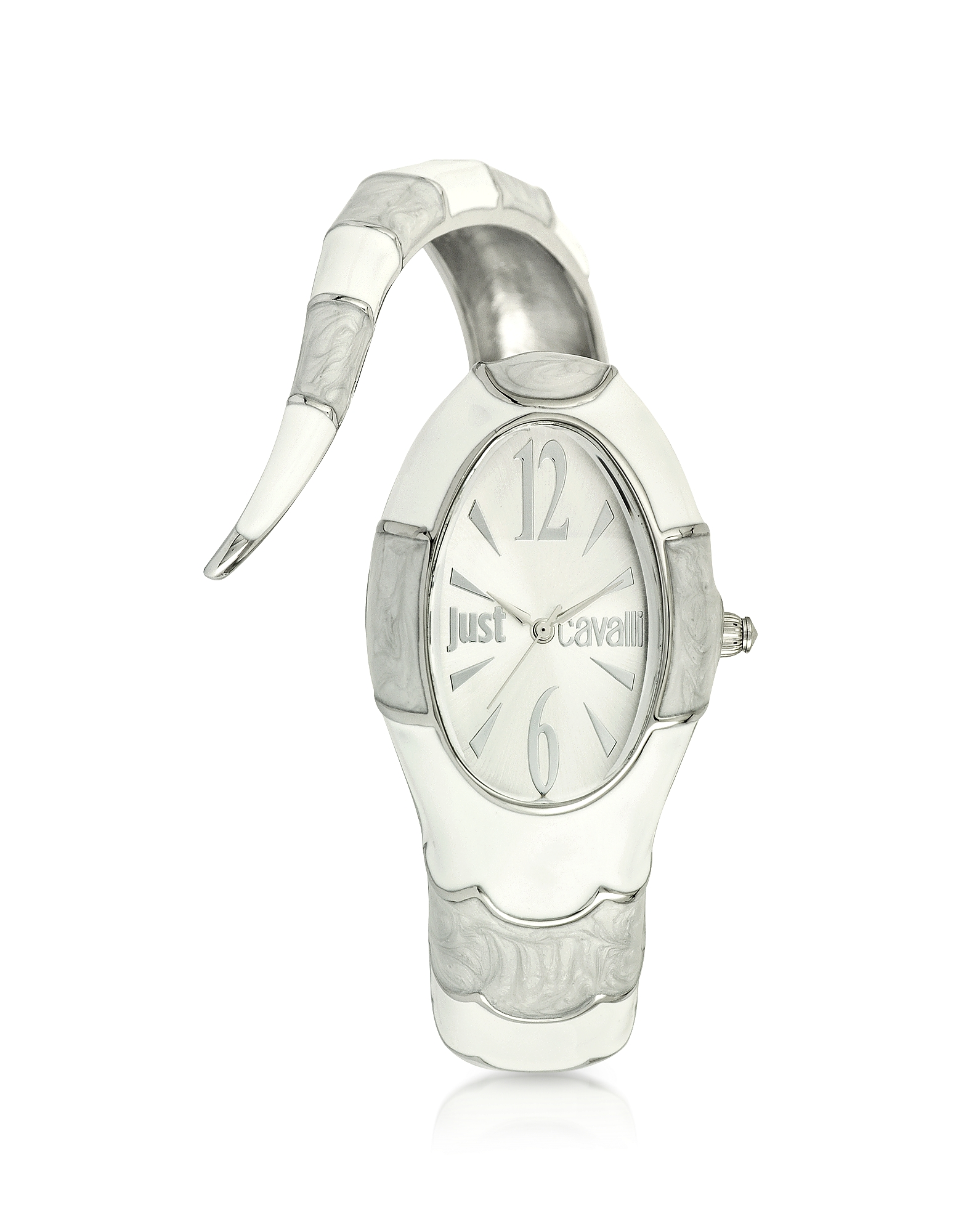Just Cavalli Women's Watches, Poison Jc 3H Silver Dial Stainless Steel Women's Watch